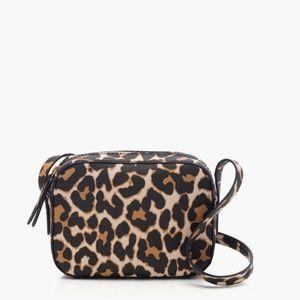 J. Crew Marlo Leather Crossbody Bag in Leopard